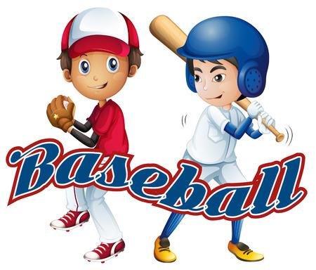 Baseball themed boys with text