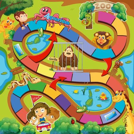 board game: Fun board game with a zoo theme