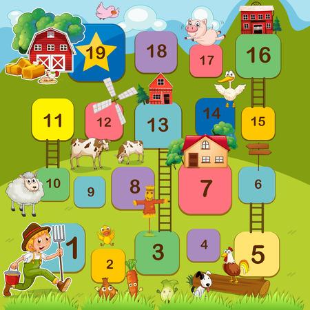 jeu: Jeu de soci�t� avec des animaux de la ferme
