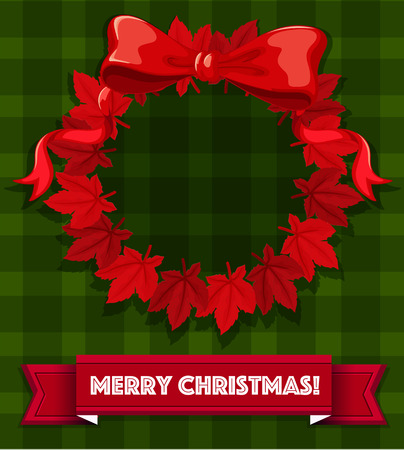 breen: Merry Christmas design with red wreath