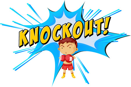 knock out: Knockout punch icon on white