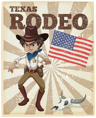 Old style themed rodeo poster Vector
