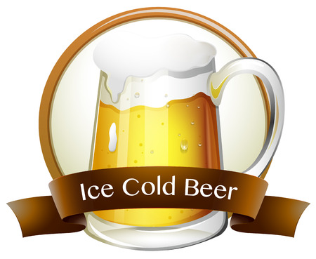 beers: Ice cold beer text logo