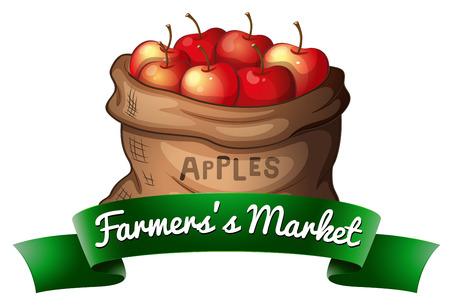 farmers market: Farmers market bag of apples