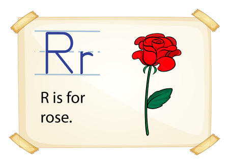 A letter R for rose n a white background Vector