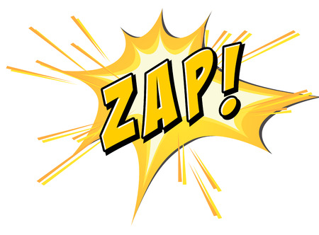 zap: Zap on yellow and white Illustration