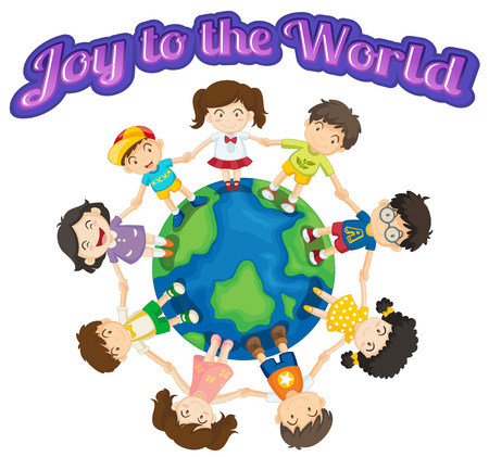 jesus praying: Joy to the world with children