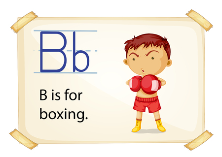 A letter B for boxing on a white background
