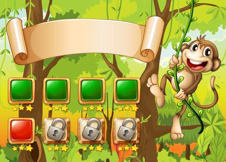 jeu: Singe game design avec des �l�ments