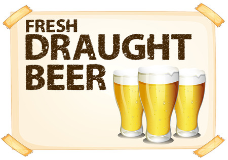 chilled: Poster of fresh draught beer