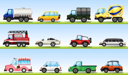 camion de pompier: Différents types de véhicules à des fins de diefferent