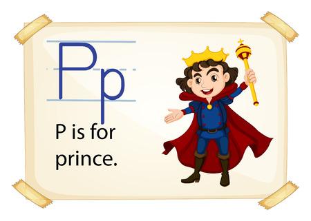 Poster of an alphabet P Vector