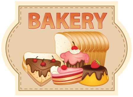 Banner of bakery products Vector