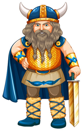 role model: Viking in costume with sword
