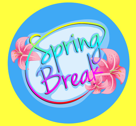 Poster with a message Spring Break Vector