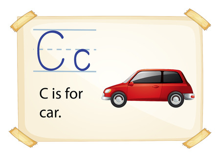 phonetic: Illustration of a flashcard letter C