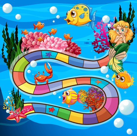 nemo: Boardgame with underwater theme and animals