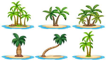 Illustration of a set of many islands Vector