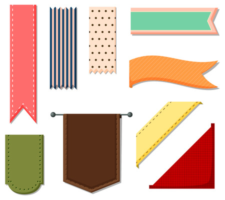 stipes: Different patterns of ribbon banners