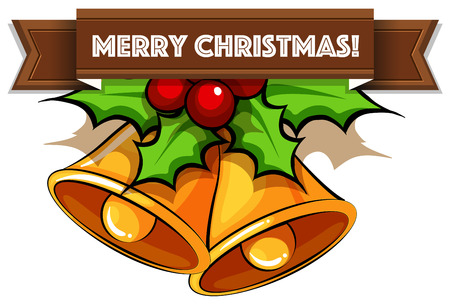 Flashcard of Merry Christmas wishes Vector