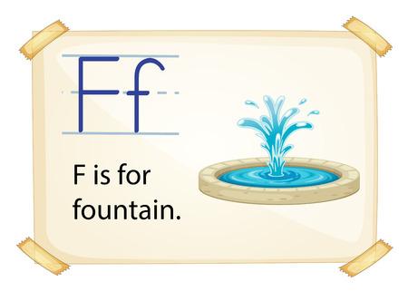Poster of an alphabet F Vector