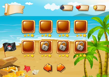jewel box: Gaming icons for beach themed game