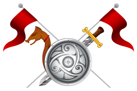 War weapons of the Vikings Vector