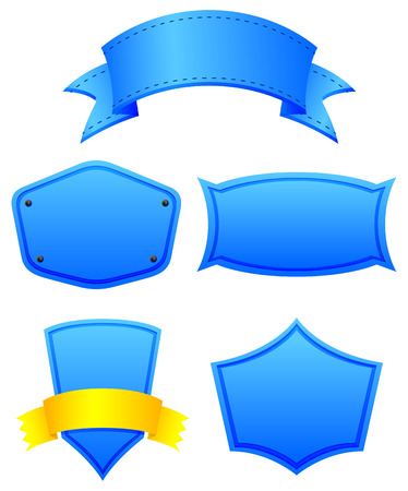 Empty blue templates on a white background Illustration
