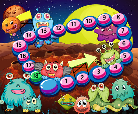 alien clipart: Set of game elements and icons with aliens theme Illustration