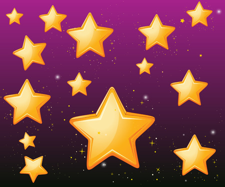 golden color: Golden color stars with purple background wallpaper