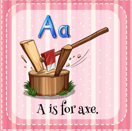 Flashcard of an alphabet A Vector