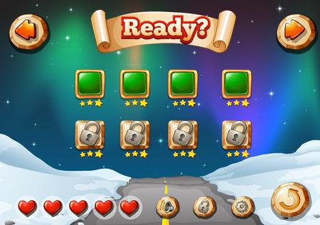 computer game: A hitech computer game Illustration