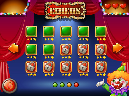 A circus computer game Illustration