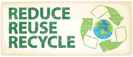 Illustration of a recycle poster Banco de Imagens - 34280741