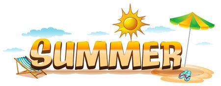 hot seat: Illustration of a sign of summer season Illustration