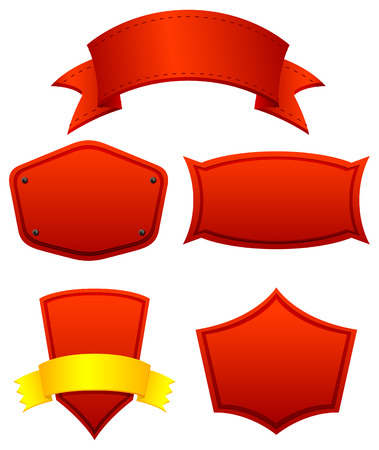 Different designs red banners Vector