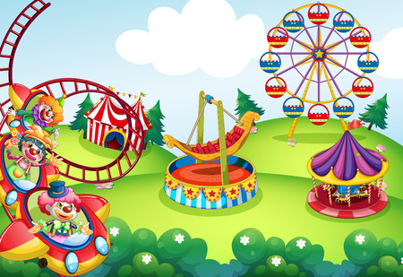 amusement park rides: Wallpaper of circus and theme park design