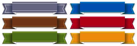 bulletin board: Illustration of different color labels