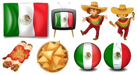 Los productos que reflejan México y de México Foto de archivo - 34280956