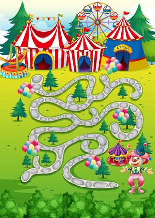 board games: Background of a game with circus theme
