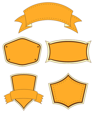 Empty orange templates on a white background Vector
