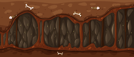 tunnel: A tunnel with bones Illustration
