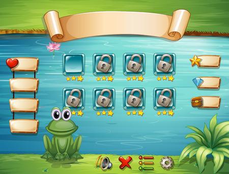 computadora caricatura: Ilustración de una escena de un juego de ordenador