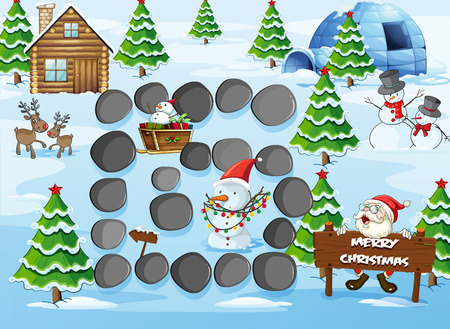 brettspiel: Brettspiel mit Merry Christmas theme