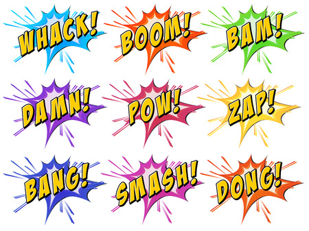 Set of words on a white background Illustration