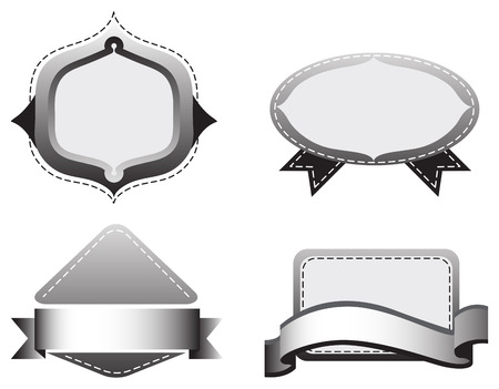 Four empty grey templates on a white background Vector
