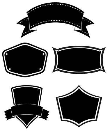 Sets of empty templates on a white background Vector