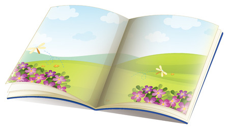 storybook: Illustration of a single storybook with pictures