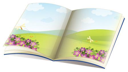 libro de cuentos: Ilustraci�n de un solo libro de cuentos con im�genes