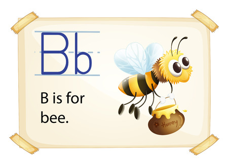 phonetic: Illustration of alphabet B is for bee